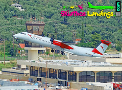 "OE-LGH Austrian Airlines Dash8-400 • <a style=""font-size:0.8em;"" href=""http://www.flickr.com/photos/146444282@N02/28741387917/"" target=""_blank"">View on Flickr</a>"