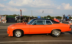 Orange Muscle_1733 (Fast an' Bulbous) Tags: classic car dragster oldtimer vehicle automobile outdoor nikon santapod dragstalgie hotrod motorsport