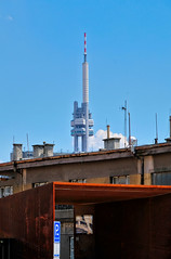 Žižkov Television Tower (awbaganz) Tags: žižkov architecture tower tvtower prag praha prague landmark czechrepublic europe centraleurope summer sky fujifilm xpro2 xf18135