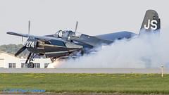 NX7629C Tigercat mishap (Anhedral) Tags: nx7629c js374 grumman f7f tigercat accident wheelloss airventure2018 oshkosh kosh airshow warbird