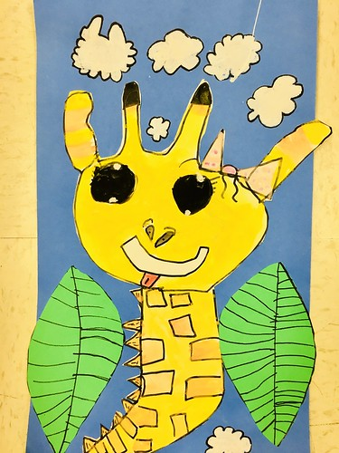 """1st grade African Giraffe Paintings #giraffe #drawing #painting #art #collage #1st #1stgrade #arteducation • <a style=""""font-size:0.8em;"""" href=""""http://www.flickr.com/photos/57802765@N07/28958076007/"""" target=""""_blank"""">View on Flickr</a>"""
