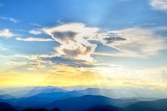Hiding the Sun (esywlkr) Tags: sun clouds sky mountains skyscape landscape brp nc northcarolina blueridgeparkway nature