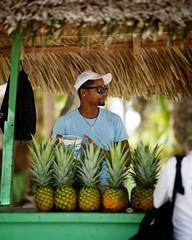 Five pineapples (jameswilkinson1) Tags: beachlife ocean island streetpassionaward streetphotography street people travel tropics tropical sun man pineapples pineapple beach