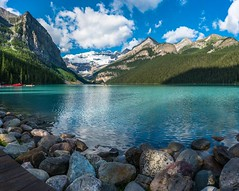 Lake Louise (karlsjohnson) Tags: favorite karl landscape mountains panoramic travel water canada portfolio banffnationalpark alberta unitedstates