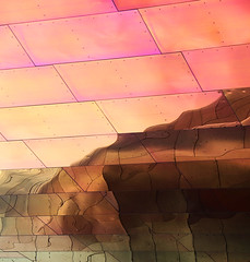 Desert Sunset (studioferullo) Tags: abstract architecture art beauty bright building colorful colourful colors colours contrast dark design detail edge light metal minimalism outdoor outside perspective pattern pretty scene sky study sunlight sunshine street texture tone world museum pop reflection desert lines gehry seattle washington
