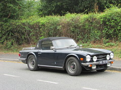 Dutch Visitor. (Andrew 2.8i) Tags: car cars classic classics carspotting street spot spotting british sports sportscar open cabriolet convertible roadster tr6 triumph