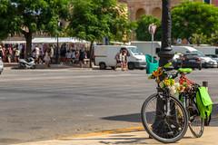 Ciutadella Market Day (nicklucas2) Tags: menorca ciutadella bicycle market road travel flower