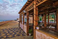 Morning on the Ras Al Khaimah seafront. (tinko777777) Tags: anatoliy gordeyev uae morning seafront watch cafe