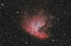 NGC 281 - Pacman Nebula (Waskogm) Tags: universe univerzum svemir space cosmos kosmos nature dark night gas teleskop telescope maksutov skywatcher observatory amateur astronomy astronomija aristarh aristarchus waskogm wasko vasilije ristovic nebula maglina maglica nebulosity ngc ngc281 pacman nostromo
