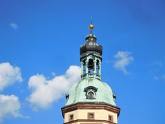 Leipzig, Germany (kenjet) Tags: germany leipzig building old historic tower architecture spire gold copper metal