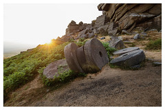 Mill Stones (danjh75) Tags: golden sunlight sunset peak peakdistrict highneb stanage edge gritstone ngc nikon d610 leefilters millstones goldenhour landscape