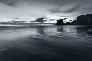 Twilight Reflections, Porthcotham Beach