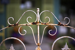 The Fence (DJ Wolfman) Tags: iron fence white rust gate bokeh sony a7markii weathered annarbor