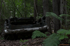 In the trunk (MIKAEL82KARLSSON) Tags: övergivet old öde övergiven abandoned dalarna decay junk sverige sweden skog forrest flickr forgotten glömd gömd bil car skrot sommar summer gammalt panasonic lumix lx100 explore explorer expo mikael82karlsson