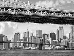 Brooklyn Bridge and the financial district New-York (chilirv) Tags: newyork nyc thebigapple usa us