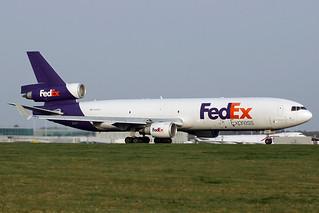 N599FE FedEx MD-11F. Stansted 14/04/2018