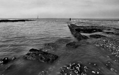 Margate Gormley (Dave.Miles) Tags: ilfordxp2 anthonygormley gormley margate jetty kent olympus olympusom1n 35mm 35mmfilm film filmisnotdead analogue