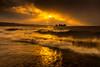 sunset 8842 (junjiaoyama) Tags: japan sunset sky light cloud weather landscape orange contrast color lake island water nature winter wave storm