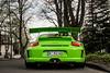 Geflügel. (FB CS) Tags: porsche 911 997 gt3 gt3rs 40 gt3rs40 green birch lizard carspotting supercars köln spoiler wing aero aerodynamics racing