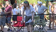 Red Beard (LarryJay99 ) Tags: 2018 lakeworthstreetpaintingfestibal urban festivals crowds florida people men male man guy guys dude dudes longhair mantags manly virile studly stud masculine sexyman tatts tattoos unsuspecting unaware candid streetshot street facialhair redbeard dimples knees legs squatting artist handsome bulge bulges bulging sweating sunglasses arms