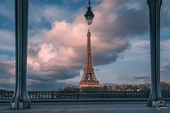 Le pont de Bir-Hakeim  & la Tour Eiffel (Julien CHARLES photography) Tags: eiffel eiffeltower europe france hdr paris toureiffel architecture birhakeim bridge capital capitale cloud panorama pont sky tower view