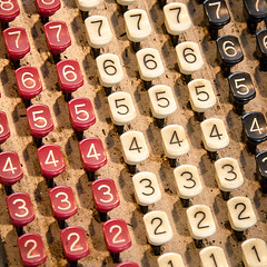 WintervilleMuseum_20180408--8 (Barta IV) Tags: old antique retro classic vintage machine check calculate numbers keys buttons adding register