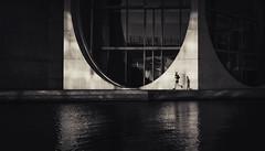 U🏃 (fehlfarben_bine) Tags: nikond800 nikon2401200mmf40 paullöbehaus berlin runner shadows monochrome reflections water spree river geometry contrast streetphotography spottymorninglight