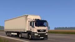 MAN (Alex Yatsyk) Tags: man truck trailer krone ets2 screenshot game