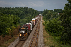 Classy Leader (Nick Brown Photography) Tags: train railroad railfanning locmotive emd ns cp wisconsin photo photograph