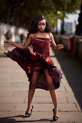 Street fashion (socreative) Tags: fashion red dress style stylish fashionista city designer editorial