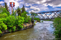 Local Landmark (James Neeley) Tags: idaho idahofalls snakeriver watertower bridge landscape jamesneeley