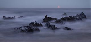 NV moonrise