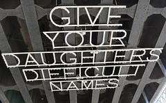 Give your daughters difficult names art installation by Marinella Senatore at the High Line, New York City (SomePhotosTakenByMe) Tags: giveyourdaughtersdifficultnames kunst art installation marinellasenatore senatore highline park urlaub vacation holiday usa america amerika newyork newyorkcity nyc stadt city downtown innenstadt outdoor greenwichvillage manhattan