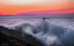 Dawn (Joseph Greco) Tags: goldengatebridge sanfrancisco marin headlands marinheadlands bridge fog clouds sunrise dawn landscape sky moody mtdiablo