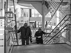 """Stairway to Heaven"" ? hospital style. (Tony Baldwinson) Tags: pinderfields hospital stairwaytoheaven uk bw"