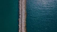 Breakwater (andrewmclean32) Tags: traintrack industrial water landscape seascape sea aerialphotography dji djimavicpro drone aerial nature uk england weymouth newton'scove dorset breakwater portland