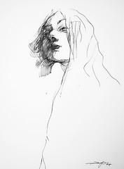 P1018553 (Gasheh) Tags: art painting drawing sketch portrait girl line pen gasheh 2018