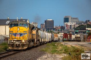 Northbound UP Auto Train at Kansas City, KS
