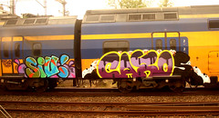 traingraffiti (wojofoto) Tags: graffiti treingraffiti traingraffiti trein train nederland netherland holland wojofoto wolfgangjosten