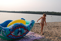 On joue! (tash.maxwll) Tags: beach water light lighting reflection reflect family smiles sand sandy playing play kid kids adventure vacation french english bilingual canada candid exposure natural nature wow beauty weeks wet soaked cool animals interesting