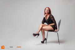 Natasja (Victor van Dijk (Thanks for 5M views!)) Tags: red hair highheels legs chair model woman girl female portrait portret fashion elinchrom octa quadra elb400 redhair pose posing strobist studio studioportrait rotalux fav fave faved favorite
