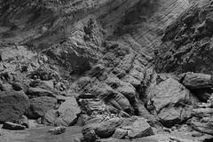 Find Wayne (setoboonhong) Tags: travel old silk road tian shan canyon xinjiang china rocks sediments textures bw floor human figure outdoor