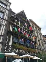 Some beautiful balconies and flags in Rouen