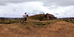 taking in the view (»alex«) Tags: bike bicycle cycling mtb offroad view landscape kilns railway rosedale yorkshiremoors panorama 360x180 360degrees ricohtheta equirectangular