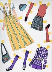 Francie Paper Doll from 1973 (barbiescanner) Tags: vintage retro fashion vintagefashion toys vintagetoys dolls barbie fashions mattel whitman 1970s 1970sfashions 70sfashions 1973 francie