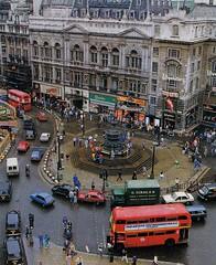 Piccadilly Circus  mid 1980's view. (Ledlon89) Tags: bus buses london transport lt lte londonbus londonbuses vintagebuses londontransport