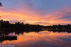 le ciel du Lac Vert après l'orage - Lac Vert sky after a thunderstorm (Sylvain Bédard) Tags: champêtre ciel coucherdesoleil nuit paysage sky sunset