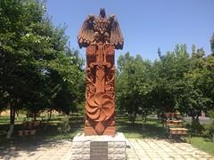 Stone Monument of the Armenian Warrior (Alexanyan) Tags: yerevan armenia monument avan ավան վարչական շրջան armenian warrior armenie armenien caucasia stone pink war hayastan