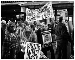 Kamil Hussain (gro57074@bigpond.net.au) Tags: kamilhussain protestinggirl 21july2018 street bringthemhere monochrome bw blackandwhite 50mmf14 artseries sigma d850 nikon refugees asylumseekers march protest