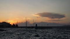 Corinth | Greece (petrmpit) Tags: sunrise sea ελλάδα greece corinth korinthos port sky clouds landscapes olympus pen epl1